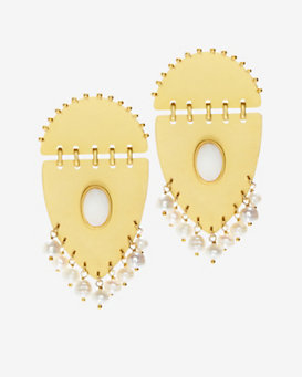 Paula Mendoza Jarama Pearl Detail Earrings