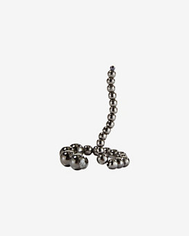 Paula Mendoza Adriane Single Beaded Coil Ring : Gunmetal