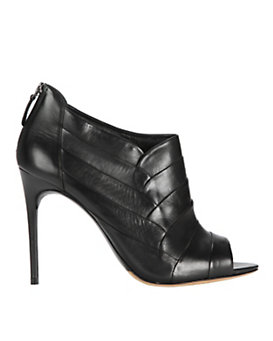 Alexandre Birman Peep-Toe Petal leather Ankle Bootie