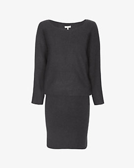 Joie Ribbed Sweater Dress: Grey