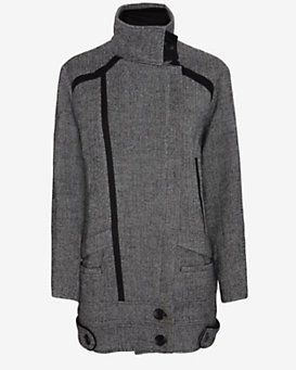 IRO Oversized Collar Wool Coat: Grey