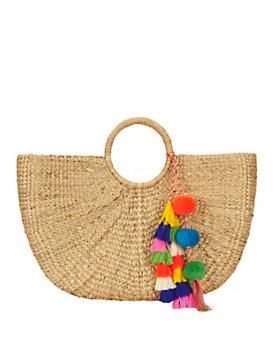 JADEtribe Pom Tassel Beach Basket