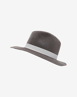 Hat Attack Medium Brim Velour Flopy Hat: Grey
