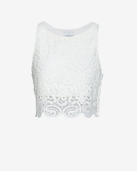 Miguelina EXCLUSIVE Lace Crop Top