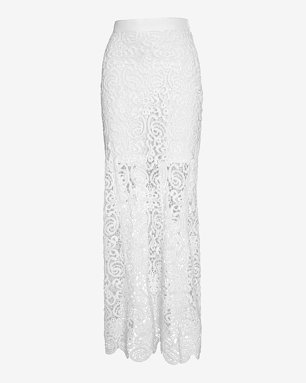 Miguelina EXCLUSIVE Celine Lace Maxi Skirt