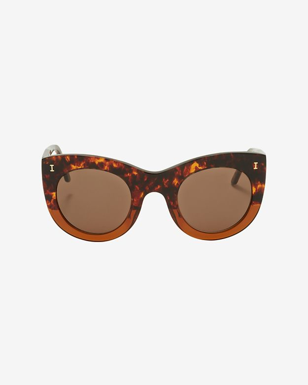 Illesteva Boca Sunglasses: Brown