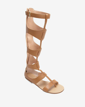 Sigerson Morrison Knee High Gladiator Sandal: Tan