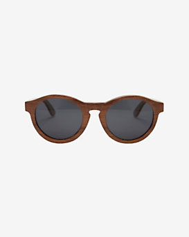 Finlay & Co. Bosworth Round Wooden Frame Sunglasses