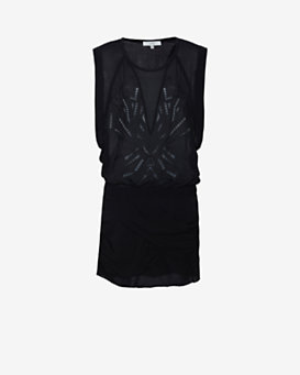 IRO Geometric Cut Out Mini Dress