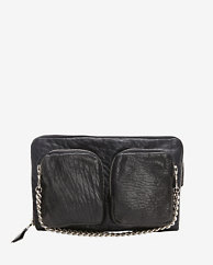 Exclusive for Intermix Zipper Detail Leather Fanny Pack