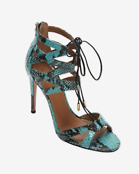 Aquazzura Exotic Lace Up Ankle Sandal