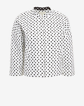 Band of Outsiders Polka Dot Zip Jacket