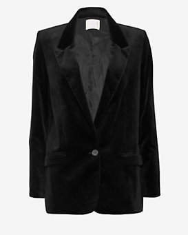 MiH Jeans Harrison Velvet Jacket: Black