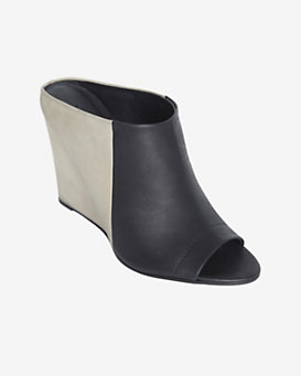 Vince Colorblock Wedge Mule