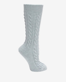 Corgi Cable Knit Cashmere Sock
