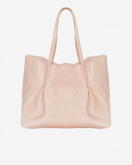 Nina Ricci Pleated Leather Tote: Blush