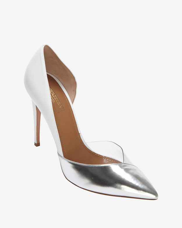 Aquazzura PVC/Metallic/Leather Pump