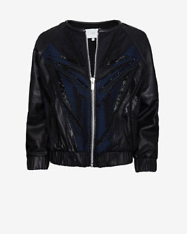 IRO EXCLUSIVE Cassie Embellished Leather Bomber Jacket