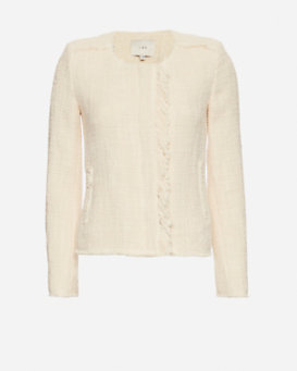 IRO EXCLUSIVE Frayed Crop Knit Jacket