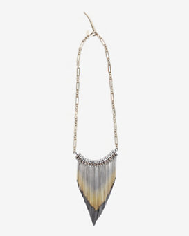 Iosselliani Fringe Stone Bib Collar Necklace