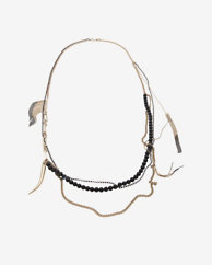 Iosselliani Fringe Tusk Long Necklace