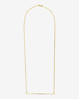 Jennifer Zeuner Chelsea Horizontal Bar Necklace with Diamond