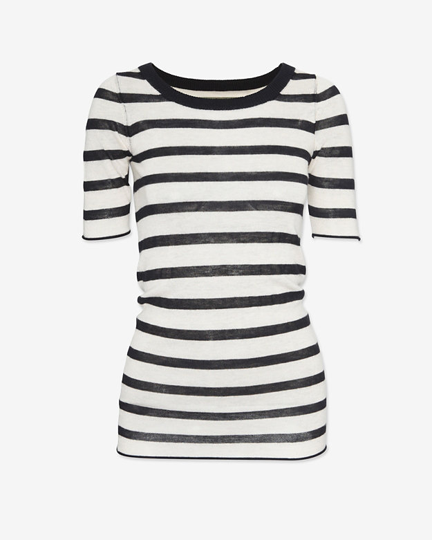 Enza Costa Striped Sweater Tee