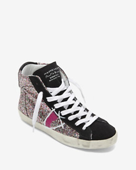 Philippe Model High Top Glitter Sneakers