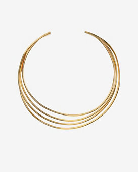 Philippe Audibert Molded 4 Wire Choker: Gold