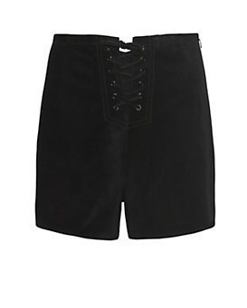 Alexa Chung for AG Mabel Suede Lace-Up Short