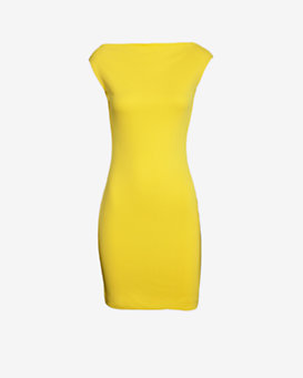 DSQUARED2 Cowl Neck Dress: Yellow
