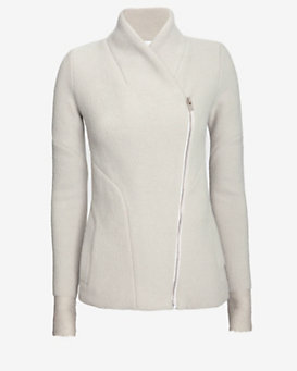 IRO Mock Neck Fitted Knit Jacket