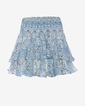 Twelfth Street by Cynthia Vincent EXCLUSIVE Printed Ruffle Skirt