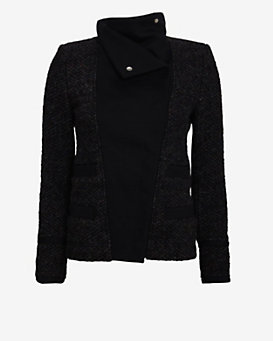 IRO Oversized Collar Tweed Jacket