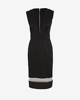 Nicholas EXCLUSIVE Deep V Neck Bandage Dress
