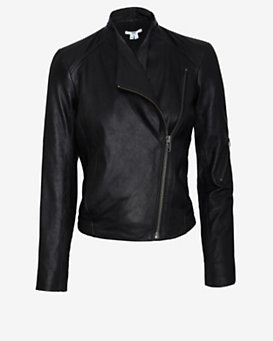 HELMUT Moto Washed Leather Jacket