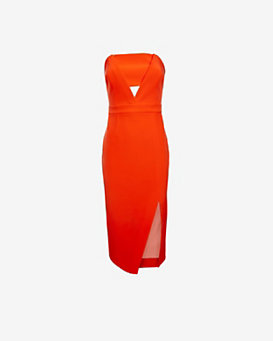 Nicholas EXCLUSIVE Bonded Cut Out Strapless Dress