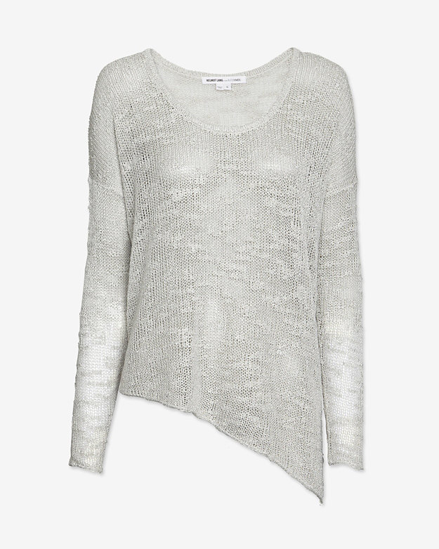 Helmut Lang EXCLUSIVE Irregular Silk Asymmetrical Sweater