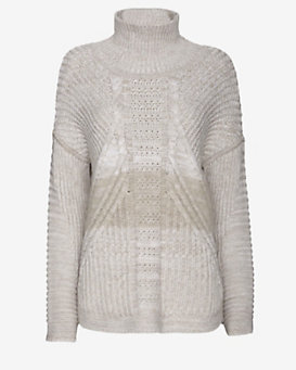 Duffy EXCLUSIVE Gradient Cable Knit Turtleneck
