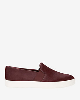 Vince Blair Calfhair Slip On Sneaker: Burgundy