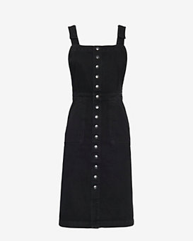 MiH Jeans Eastman Denim Dress: Black