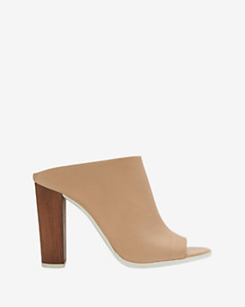 Vince Allison Leather Slide Sandal: Nude