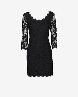 Diane von Furstenberg Zarita Lace Dress: Black