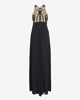 Diane von Furstenberg New Darina Metallic Crochet Dress