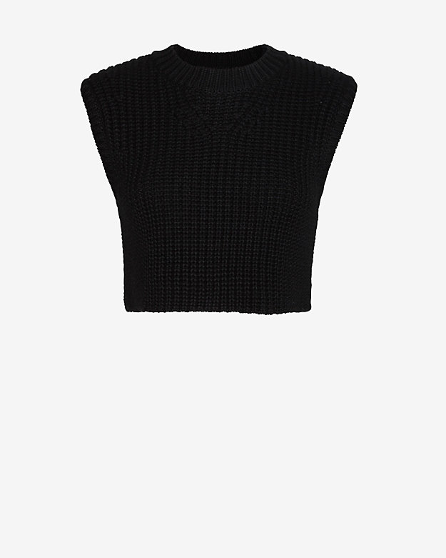 Neil Barrett Waffle Knit Sleeveless Crop Sweater