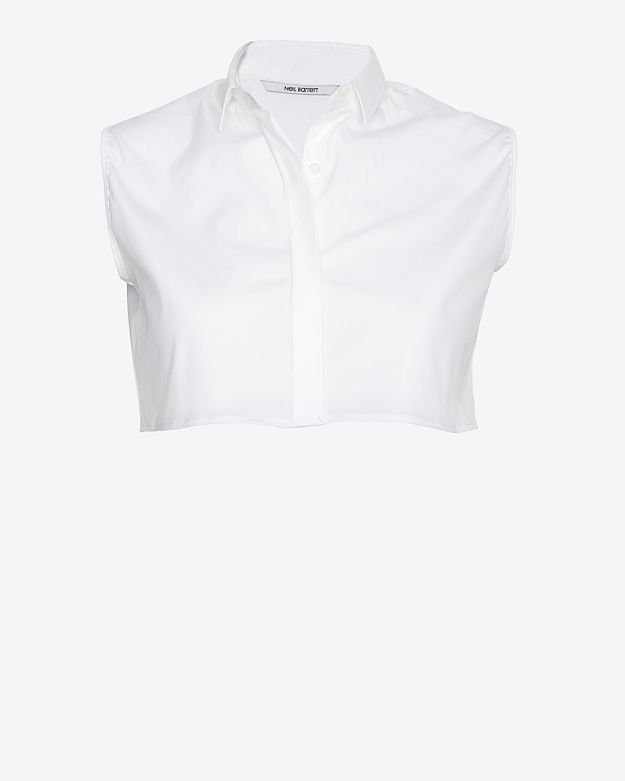 Neil Barrett Sleeveless Cropped Shirt