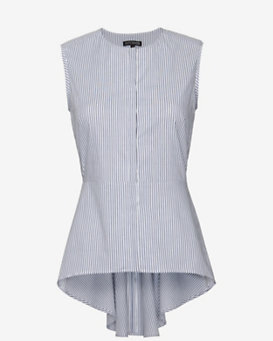 Exclusive For Intermix Sleeveless Poplin Button Down