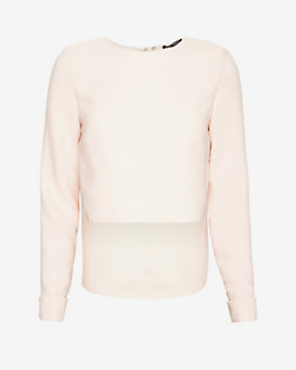 Exclusive for Intermix Crepe Shell: Blush