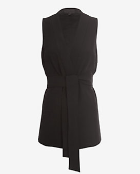 Exclusive for Intermix Belted Wrap Top