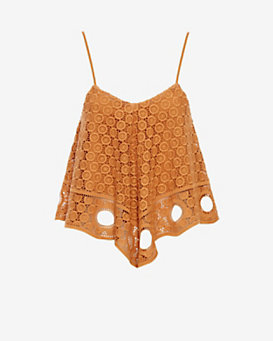 Exclusive for Intermix Crochet Lace Cami